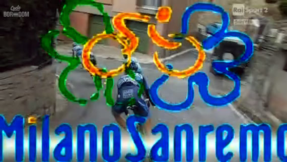 Cycleboredom | Screencap Recap: Milan-San Remo - Ugliest Screen Graphic Evah
