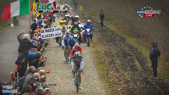 Cycleboredom | Screencap Recap: Paris-Roubaix - Not Dirk