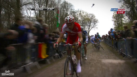 Cycleboredom | Screencap Recap: Paris-Roubaix - Oh Sh**!