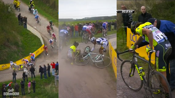 Cycleboredom | Screencap Recap: Paris-Roubaix - Pippo Crash