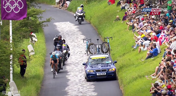 Cycleboredom | Screencap Recap: Men's Olympic Road Race - Strange Sights