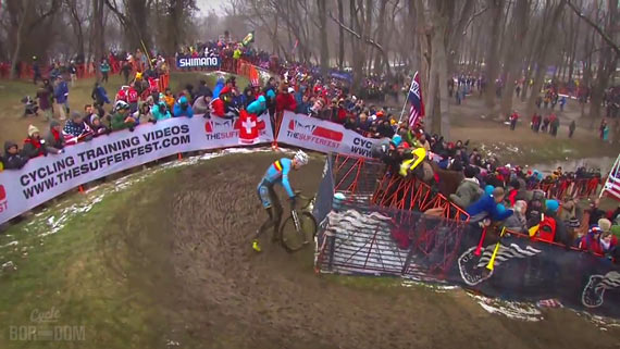 Screencap Recap: 2013 UCI Cyclocross World Championships - Klaas Second Mistake