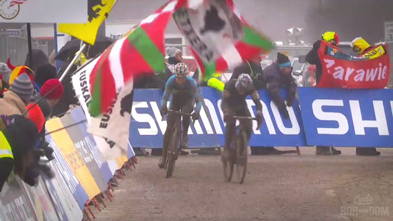Screencap Recap: 2013 UCI Cyclocross World Championships - Pauwels Catches Mourey