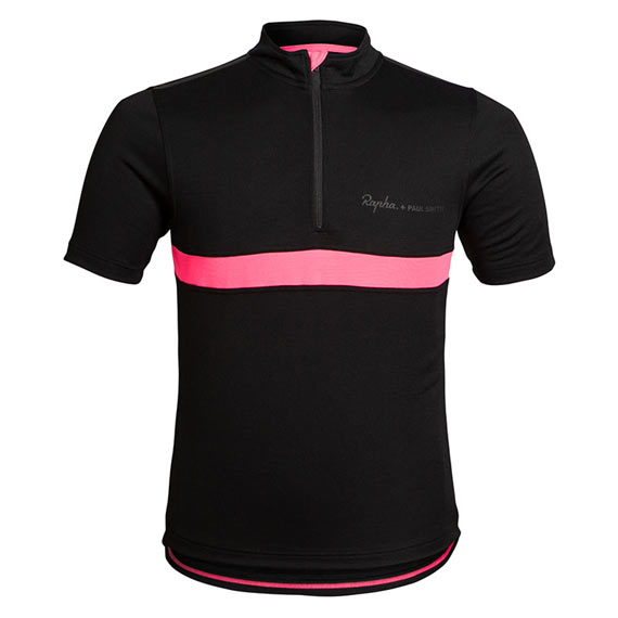 Released: Rapha + Paul Smith Black Jersey - Front Side